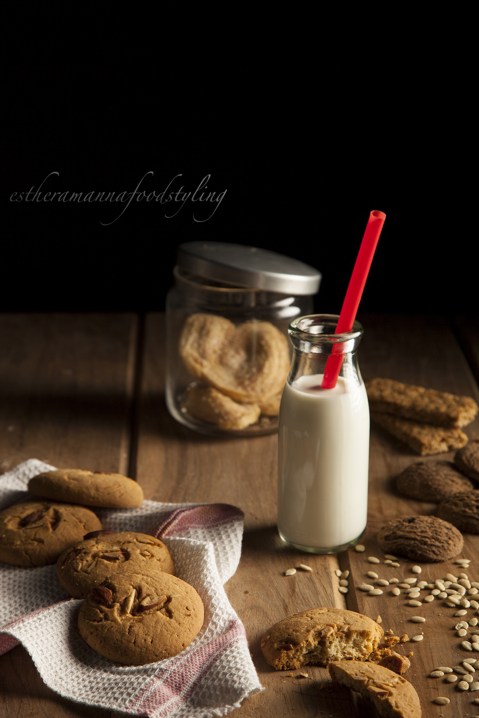Milk and cookies,Foodstyling,Esther Amanna